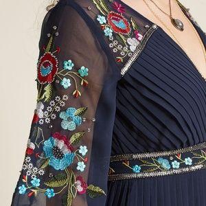 Modcloth Frock & Frills Hand Beaded Maxi Dress NEW